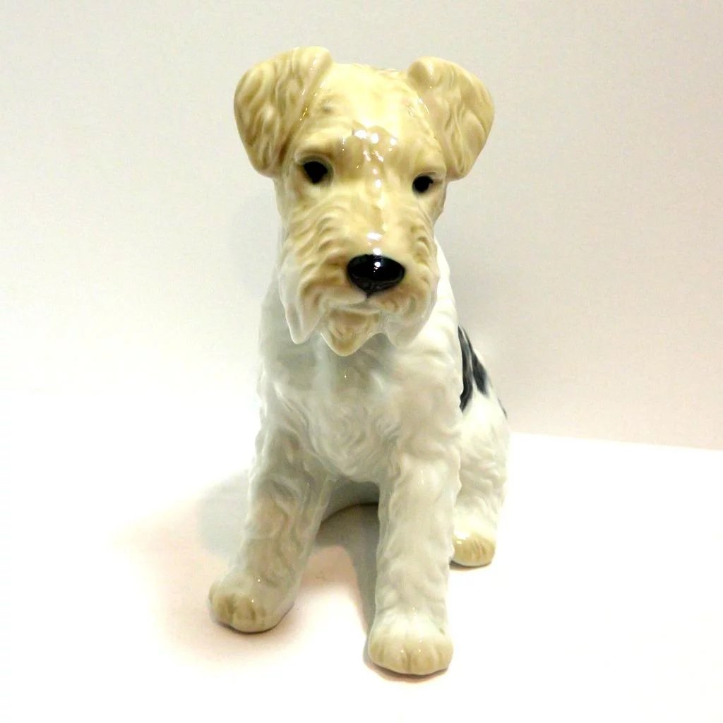 Vintage Porcelain Wire Haired Fox Terrier Dog : A Dog\'s Tale ...