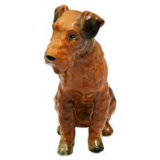 Vintage Airedale Dog Figurine c.1950's