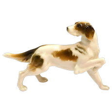 Vintage Hutschenreuther Hunting Dog Figurine c.1950's - 1960's