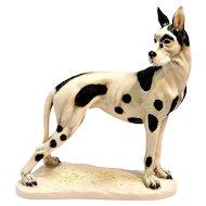 Cacciapuoti Harlequin Dane Figurine Signed