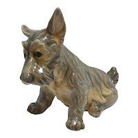 Dahl Jensen Porcelain Scottish Terrier Dog Figurine #1078