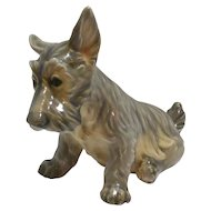 Dahl Jensen Porcelain Scottish Terrier Dog Figurine #1078
