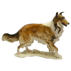 Hutschenreuther German Porcelain Rough Collie Figurine c.1969