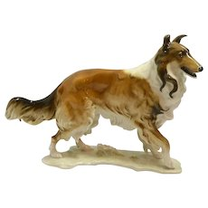 Hutschenreuther Porcelain Rough Collie Figurine C.1969