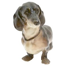 Antique Nymphenburg Dachshund Germany c.1906
