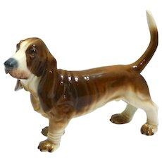 Vintage Bidasoa Porcelain Basset Hound Dog Figurine