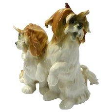 Rare Vintage Karl Ens Lhasa Apso Dog Pair c. 1910 - 1920's