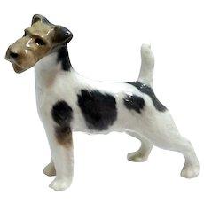 Royal Copenhagen Wire Haired Fox Terrier Figurine