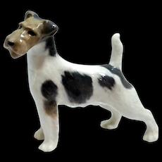 Royal Copenhagen Wire Haired Fox Terrier Dog Figurine