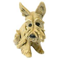 Vintage Miniature Cacciapuoti Terrier Dog c. 1940's