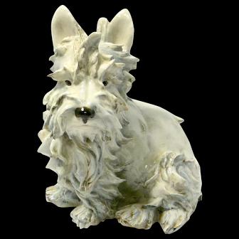 Large Guido Cacciapuoti Maltese Terrier Dog c.1920