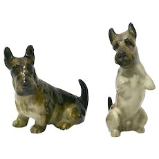 Royal Doulton Scottish Terrier Pair K18 and K10