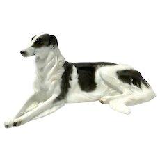 Art Deco Rosenthal Porcelain Borzoi Dog Artist Signed c. pre-1920