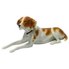 Antique Porcelain Short-Haired Pointer Dog Germany c.1900 - 1915