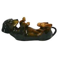 Karl Ens Porcelain Dachshund Puppy Figurine