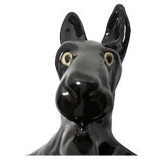Comical Mid-Century Modern Black Scottie Figurine Made in the USA