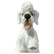 "Rosenthal ""Dancing"" Poodle German Porcelain Figurine c. 1975"