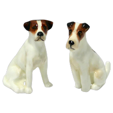 Royal Doulton Jack Russell Terrier and Fox Terrier Pair K8 and K7