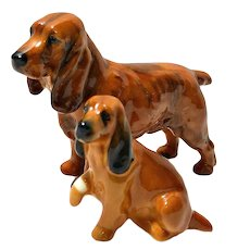 Royal Doulton Cocker Spaniel Pair HN 1188 and K9 c.1930's - 1970's