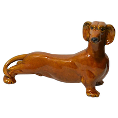 Royal Haeger Brown Dachshund