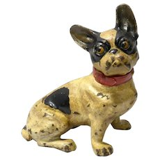 Hubley Cast Iron French Bulldog c.1930's