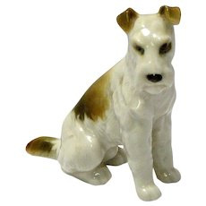 Antique Hutschenreuther Fox Terrier Dog Figurine c. 1887 - 1910's