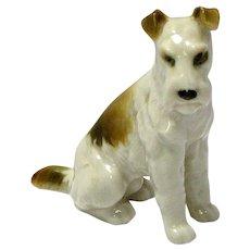 Antique Hutschenreuther Fox Terrier Dog Figurine c. 1887 - 1910's