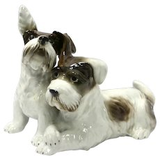 German Porcelain Terrier Dog Pair