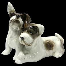 German Porcelain Terrier Dog Pair