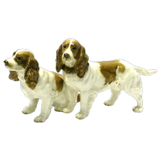 Hutschenreuther Porcelain Pair of Spaniels