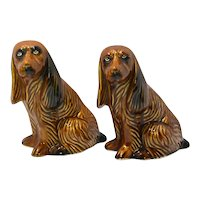 Vintage Pair of Spaniel Figurines from Brazil