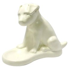 Royal Haeger White Puppy Fish Bowl Holder