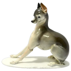 Rosenthal Italian Greyhound Figurine T. Karner c. 1930's