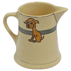 Roseville Art Pottery Creamer with Puppy