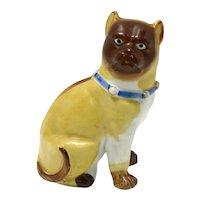 Antique Miniature Pug Dog Porcelain Figurine