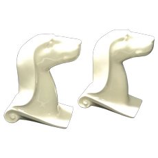Art Deco Greyhound Bookends
