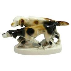 Carl Scheidig Porcelain Hunting Dogs c.1906-1935