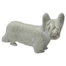 Antique Meissen Porcelain Skye Terrier