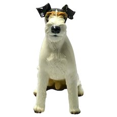 Nymphenburg Wire Haired Fox Terrier  Figurine c.1927