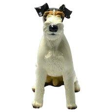 Nymphenburg Wire Haired Fox Terrier  Figurine c.1927
