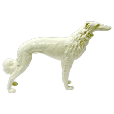 Large White Porcelain Borzoi