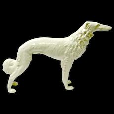 Vintage Czech Porcelain Borzoi Wolfhound Dog Figurine