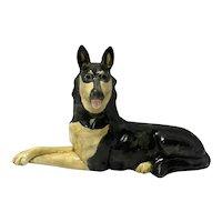 Haeger German Shepherd Figurine