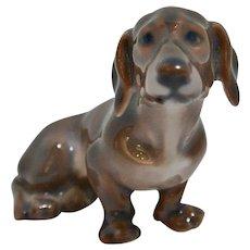 Miniature Dachshund Figurine Dahl Jensen