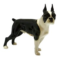 Boston Terrier Porcelain Figurine Hutschenreuther