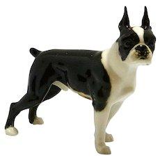 Boston Terrier Porcelain Figurine Hutschenreuther
