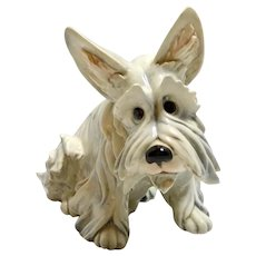 Rare Guido Cacciapuoti Dog Scottish Terrier/Maltese c.1920's Mint