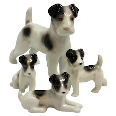 Vintage Family of Four Terrier Dogs ERPHILA Germany