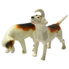 Beswick Foxhound Figurine Pair