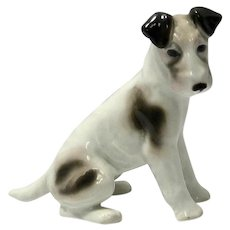 F. Pffeffer Porcelain Seated Fox Terrier c. 1900-1934